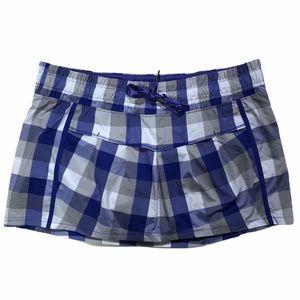 Lululemon wet dry warm plaid skirt skort